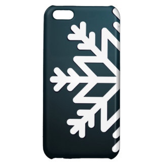 Merry Christmas Snowflake Blue iPhone 5C Cases
