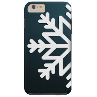 Merry Christmas Snowflake Blue Tough iPhone 6 Plus Case