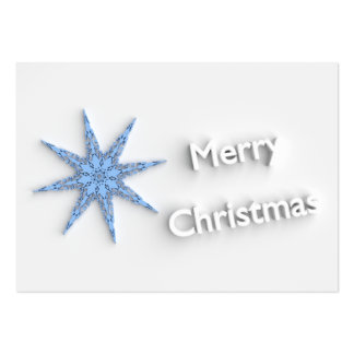 Merry Christmas - Snowflake -  Business Card