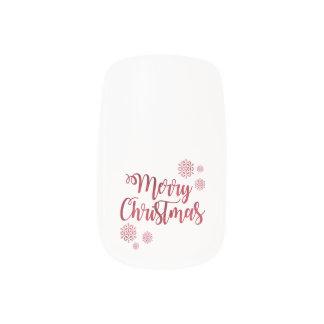 Merry Christmas Snowflake Greeting Design Minx Nail Art