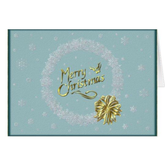 Merry Christmas Snowflake Wreath Card