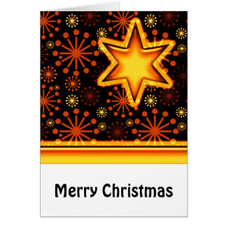 Merry Christmas Snowflakes and Star Greeting Card