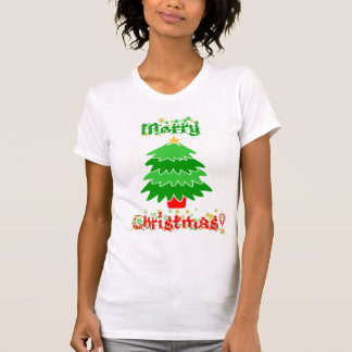 Merry Christmas Snowflakes and Tree T-Shirt