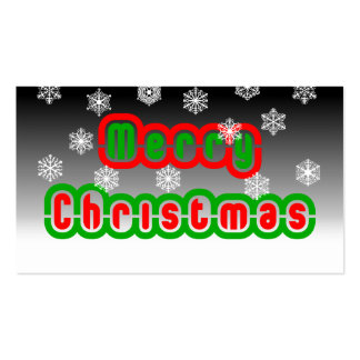 Merry Christmas Snowflakes Business Card Templates