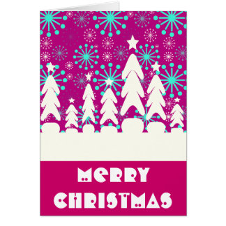 Merry Christmas Snowflakes Greeting Card