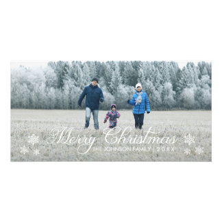 Merry Christmas Snowflakes | Holiday Photo Card