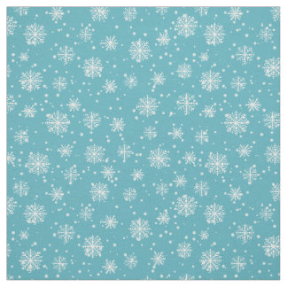 Merry Christmas snowflakes pattern Fabric