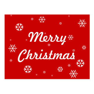 Merry Christmas Snowflakes Postcard