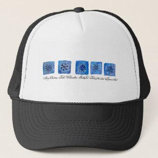 Merry Christmas Snowflakes Trucker Hat