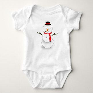 Merry Christmas Snowman Baby Bodysuit