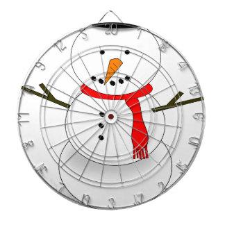 Merry Christmas Snowman Dartboard
