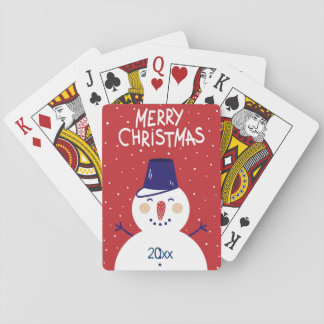 Merry Christmas/Snowman Design/Playing Cards