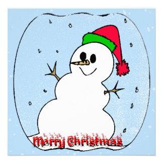 Merry Christmas Snowman Invitation