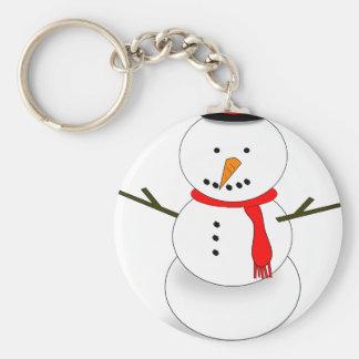 Merry Christmas Snowman Key Ring