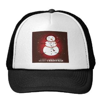 Merry Christmas Snowman Music Hat