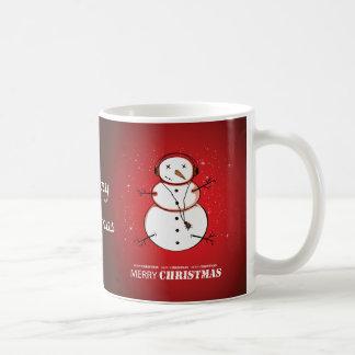 Merry Christmas Snowman Music Coffee Mug