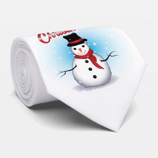 Merry Christmas/Snowman Neck Tie