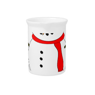 Merry Christmas Snowman Pitcher
