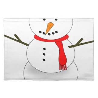 Merry Christmas Snowman Placemat