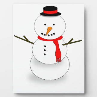 Merry Christmas Snowman Plaque