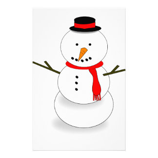 Merry Christmas Snowman Stationery