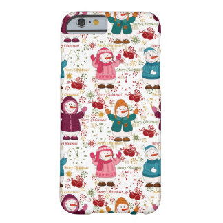 Merry Christmas Snowmen Barely There iPhone 6 Case