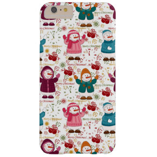 Merry Christmas Snowmen Barely There iPhone 6 Plus Case