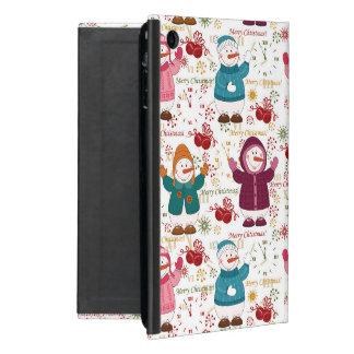 Merry Christmas Snowmen Case For iPad Mini