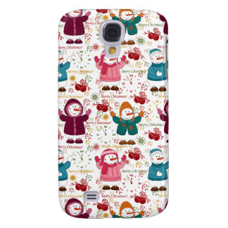 Merry Christmas Snowmen Galaxy S4 Cases