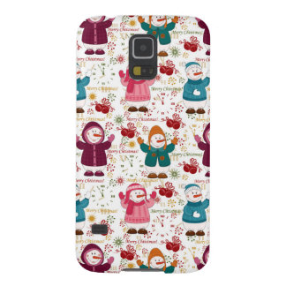 Merry Christmas Snowmen Galaxy S5 Cover