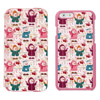 Merry Christmas Snowmen Incipio Watson™ iPhone 6 Wallet Case