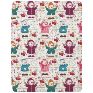 Merry Christmas Snowmen iPad Cover