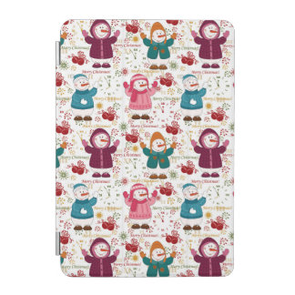 Merry Christmas Snowmen iPad Mini Cover
