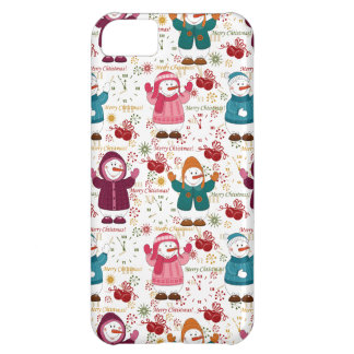 Merry Christmas Snowmen iPhone 5C Case