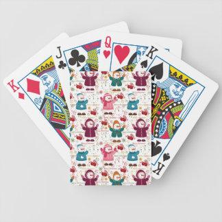 Merry Christmas Snowmen Poker Deck