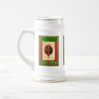 Merry Christmas, sparkly decoration Beer Stein
