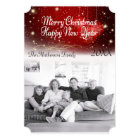 """""""Merry Christmas"""" Sparkly Night and Ornaments Card"""