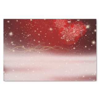 """Merry Christmas"" Sparkly Night and Ornaments Tissue Paper"