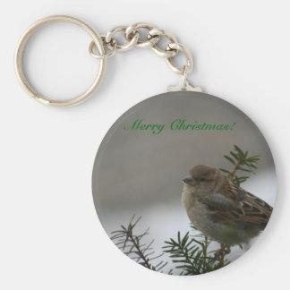 Merry Christmas!  Sparrow! Keychain