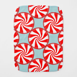 Merry Christmas Spearmint swirl peppermint Candy Burp Cloth