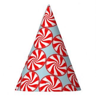 Merry Christmas Spearmint swirl peppermint Candy Party Hat