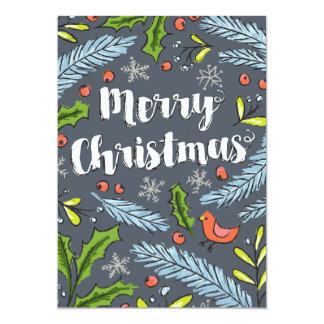 Merry Christmas Spruce Boughs Card