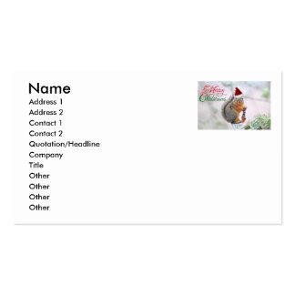 Merry Christmas Squirrel Business Card Templates