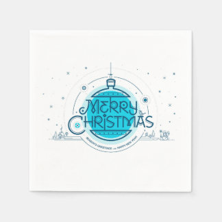 Merry Christmas. Standard Cocktail Paper Napkins