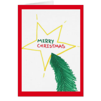 Merry Christmas Star and Tree card