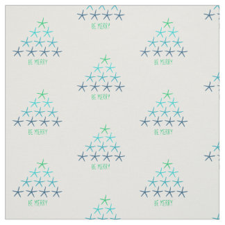 Merry Christmas Starfish Fabric