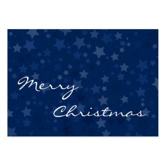 Merry Christmas - Stars -  Business Card