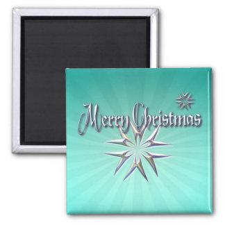 MERRY CHRISTMAS STARS by SHARON SHARPE Fridge Magnet