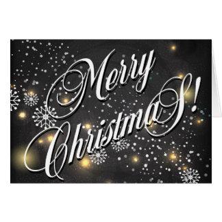 Merry Christmas Stars & Snowflakes Card