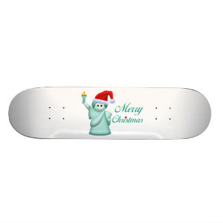 Merry Christmas Statue Of Liberty 20 Cm Skateboard Deck